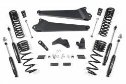 "DODGE - 2013-16 DODGE RAM 3/4 TON - Zone Offroad - Zone Offroad 6.5"" Radius Arm Suspension Lift Kit for 2014-2017 Ram 2500 Diesel - D58"