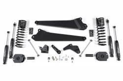 "DODGE - 2013-16 DODGE RAM 3/4 TON - Zone Offroad - Zone Offroad 4"" Radius Arm Suspension System Lift Kit for 2014-17 Ram 2500 (GAS) - D63"