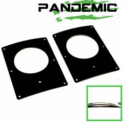 "Pandemic - COMPLETE LED Tail Light Conversion KIT - FLUSH MOUNT 4"" ROUND W/ CLEAR LENSE & RED DIODES - For Jeep Wrangler JK 2007-2018 2 & 4 Door - PAN-5002 - Image 9"