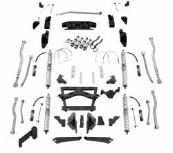 Jeep JK Wrangler 07-18 - Rubicon Express - Rubicon Express - Rubicon Express Extreme-Duty 4-Link Long Arm Coilover Kit with Airbumps, for 07-16 Jeep Wrangler JK