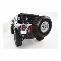 Jeep Wrangler JK 07-PRESENT - Rear Bumpers & Tire Carriers - Smittybilt - XRC Atlas Rear Bumper with Tire Carrier 07-Pres Wrangler JK Smittybilt