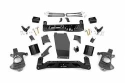 CHEVY / GMC - 2007-17 Chevy / GMC 1/2 Ton Pickup & SUV - Rough Country - Rough Country 5IN GMC SUSPENSION LIFT KIT (14-17 1500 DENALI PU 4WD W/MAGNERIDE) **CHOOSE FACTORY KNUCKLE TYPE** - 183-179