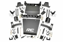 CHEVY / GMC - 2007-17 Chevy / GMC 1/2 Ton Pickup & SUV - Rough Country - Rough Country 7IN GMC SUSPENSION LIFT KIT (14-16 1500 DENALI PU 4WD W/MAGNERIDE) *CHOOSE FACTORY KNUCKLE TYPE*