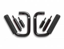 GraBars - Front GraBars For 07-18 Jeep Wrangler JK's (ALL MODELS) - (HARD MOUNT SOLID GRAB HANDLES) - 1001