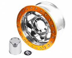 "TRAIL-GEAR - 17"" Aluminum 5x5.5"" Creeper Lock BeadLock Wheel (5 on 5.5"" w 3.75"" bs) - Choose Ring Color  - 140443-2-KIT"
