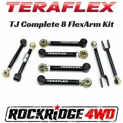 Suspension Build Components - Control Arms - TeraFlex - TeraFlex Jeep Wrangler TJ All 8 Flex Arm Kit  -1615000