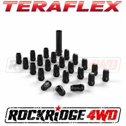 "Wheel Spacers & Adapters - Wheel & Tire Accessories - Teraflex Spline Drive Lug Nut Kit 1/2""x20 Black - 23 pcs - 1051816"