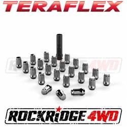 "Wheel Spacers & Adapters - Wheel & Tire Accessories - Teraflex Spline Drive Lug Nut Kit 1/2""x20 Chrome - 23 pcs - 1050816"