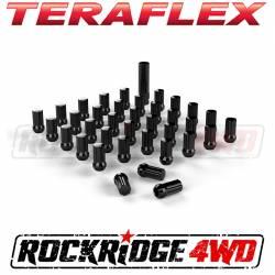 "Wheel Spacers & Adapters - Wheel & Tire Accessories - Teraflex Spline Drive Lug Nut Kit 9/16""x18 Black - 36 pcs - 1051916"