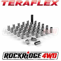 "Beadlock Wheels - Wheel & Tire Accessories - TeraFlex - Teraflex Spline Drive Lug Nut Kit 9/16""x18 Chrome - 36 pcs - 1050916"