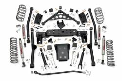 "Jeep - Jeep WJ Grand Cherokee 99-04 - Rough Country - Rough Country 99-04 Jeep WJ Grand Cherokee 4"" Long Arm Suspension Lift Kit   -90820"