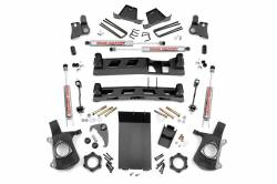1999-06 Chevy / GMC 1/2 Ton Pickup - Rough Country - Rough Country - Rough Country 6IN GM NTD SUSPENSION LIFT KIT (99-06 1500 PU 4WD) - 27220A