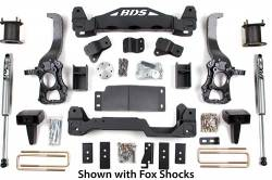 """2WD - 2014 - BDS Suspension - BDS Suspension 6"""" Suspension Lift Kit System for 2014 Ford F150 2WD pickup trucks  -1505H"""
