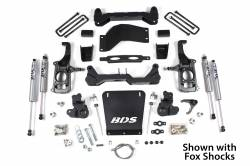 "BDS Suspension - BDS Suspension 2011-2019 Chevy 2500HD 2wd/4wd 4.5"" No Torsion Bar Drop Suspension System - 719H - Image 4"