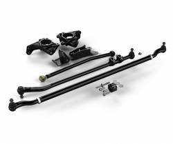 Suspension Build Components - Steering - Teraflex Jeep Wrangler JK Complete High Steer System w/ HD Tie Rod & Flipped Drag Link Kit - 4391000
