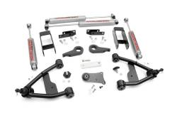 "CHEVY / GMC - 1977-87 Chevy / GMC 1/2 Ton Pickup - Rough Country - Rough Country 2.5"" Suspension Lift Kit for Chevy/GMC 1982-2004 S-10/15 Pickup/Blazer/Jimmy - 242N2"