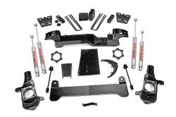 "CHEVY / GMC - 2001-10 Chevy / GMC 3/4 Ton Pickup HD - Rough Country - Rough Country 6"" Suspension Lift Kit for Chevy/GMC 2001-2010 2500 HD Pickup - 297N2"