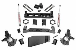 "CHEVY / GMC - 2007-17 Chevy / GMC 1/2 Ton Pickup & SUV - Rough Country - Rough Country 5"" Suspension Lift Kit for Chevy/GMC 2007-2013 1500 Pickup - 262.20-262.22"