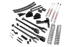 """FORD - 2005-14 Ford F250, F350 Super Duty - Rough Country - Rough Country 6"""" 4-Link Suspension Lift Kit for Ford 2005-2007 F250 / F350 Super Duty - 579.20"""