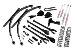 "FORD - 2005-14 Ford F250, F350 Super Duty - Rough Country - Rough Country 8"" 4-Link Suspension Lift Kit for Ford 2005-2007 F250 / F350 Diesel Super Duty - 590.20"