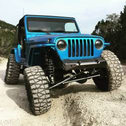 Jeep Wrangler TJ / LJ 97-06 - Front Bumpers & Stingers - Motobilt - JEEP WRANGLER YJ / TJ COMPETITION FRONT BUMPER BY MOTOBILT
