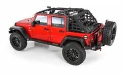 Jeep Tops & Hardware - Jeep Wrangler JK 4 Door 07+ - Smittybilt - C-Res Cargo Restraint System 07-Pres Wrangler JK 4 Door Black 2 Inch WebbingSmittybilt