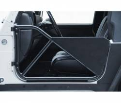 Doors & Tube Doors - Jeep Wrangler TJ & LJ Unlimited 97-06 - Smittybilt - SRC Tubular Doors Rear 97-06 Wrangler TL/LJ Black Textured SmittyBilt