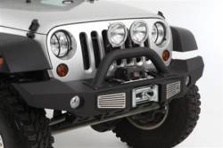 Jeep Wrangler JK 07-18 - Front Bumpers & Stingers - Smittybilt - Smittybilt XRC Atlas Front Bumper with Grill Guard and Fog Light Holes 07-18 Wrangler JK - 76892
