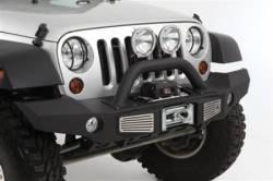 Jeep Wrangler JK 07-18 - Front Bumpers & Stingers - Smittybilt - Smittybilt XRC Atlas Front Bumper with Grill Guard and Fog Light Holes 07-18 Wrangler JK - 76892