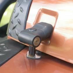 Exterior Body & Styling - Jeep Wrangler TJ / LJ 97-06 - Smittybilt - Locking Hood Catch Kit 97-06 Wrangler TJ Black Smittybilt