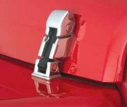 Exterior Body & Styling - Jeep Wrangler TJ / LJ 97-06 - Smittybilt - Hood Catch Kits 97-06 Wrangler TJ/LJ Stainless Steel Smittybilt