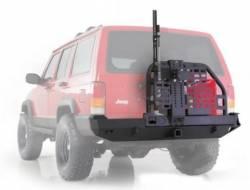 Smittybilt - XRC Rear Bumper W/Hitch and Tire Carrier 84-01 Cherokee XJ Black Textured Smittybilt - Image 2