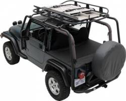 Jeep Rack Systems - Jeep Wrangler JK 07+ - Smittybilt - SRC Roof Rack 07-Pres Wrangler JK 4 DR 300 Lb Rating Black Textured Smittybilt - 76717