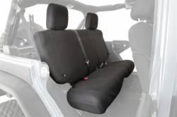 Jeep Seats & Covers - Jeep Wrangler TJ Rear Seats & Covers - Smittybilt - GEAR Seat Covers 03-06 Wrangler TJ, LJ Rear Custom Fit Black Smittybilt
