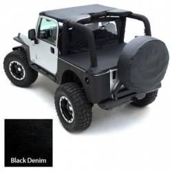 Jeep Tops & Hardware - Jeep Wrangler LJ 03-06 - Smittybilt - Wind Breaker 76-06  Wrangler YJ, TJ, LJ Denim Black Smittybilt