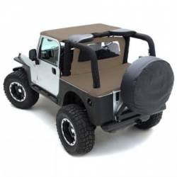 Jeep Tops & Hardware - Jeep Wrangler YJ 87-95 - Smittybilt - Wind Breaker 76-06  Wrangler YJ, TJ, LJ Denim Spice Smittybilt