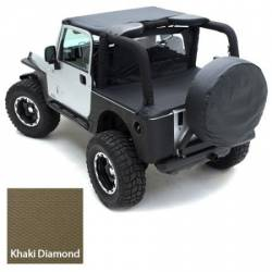 Jeep Tops & Hardware - Jeep Wrangler JK 2 Door 07+ - Smittybilt - Wind Breaker 07-Pres Wrangler JK 2 DR Khaki Diamond Smittybilt