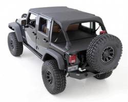 Jeep Tops & Hardware - Jeep Wrangler JK 4 Door 07+ - Smittybilt - Tonneau Cover For OEM Soft Top W/Channel Mount 07-Pres Wrangler JK 4DR Black Diamond Smittybilt