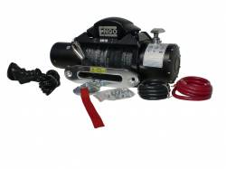 "Winches & Recovery Gear - 8,000 to 16,000 lbs Electric Winches - Engo SR10S 10,000 lb Winch with Synthetic Rope 3/8 x 85"" and Aluminum Fairlead - 97-10000S"