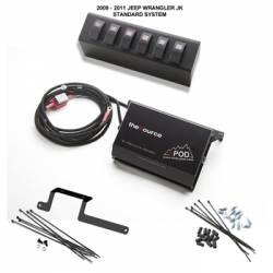 sPod Switch Panel Systems - Jeep Wrangler JK 07+ - sPod - sPod 6 Switch Panel System for 2009-2017 Jeep Wrangler JK/JKU - 600-0915