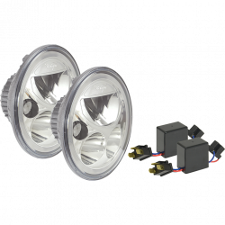 "VISION X Lighting - DOT LED Headlights - VISION X Lighting - VISION X VORTEX 7"" ROUND SEALED LED HEADLIGHTS FOR JEEP **CHROME** DOT APPROVED - XIL-7RDKITJKCB"
