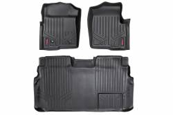 Rough Country - Floor Mats & Cargo Liners - Rough Country - Rough Country HEAVY DUTY FLOOR MATS [FRONT/REAR] - (09-10 FORD F-150 SUPERCREW CAB) - M-50912