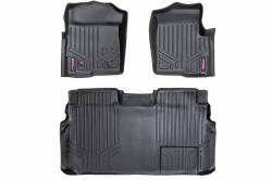 Rough Country - Floor Mats & Cargo Liners - Rough Country HEAVY DUTY FLOOR MATS [FRONT/REAR] - (11-14 FORD F-150 SUPERCREW CAB) - M-51112