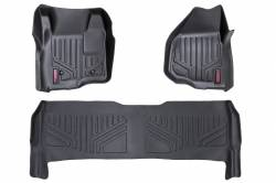 Rough Country - Floor Mats & Cargo Liners - Rough Country - Rough Country HEAVY DUTY FLOOR MATS [FRONT/REAR] - (11-16 FORD SUPER DUTY CREW CAB | DEPRESSED PEDAL) - M-51223