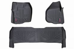 Rough Country - Floor Mats & Cargo Liners - Rough Country HEAVY DUTY FLOOR MATS [FRONT/REAR] - (12-16 FORD SUPER DUTY CREW CAB | RAISED PEDAL) - M-51213