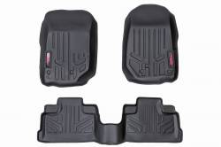 Rough Country - Floor Mats & Cargo Liners - Rough Country - Rough Country HEAVY DUTY FLOOR MATS [FRONT/REAR] - (14-16 JEEP JK WRANGLER UNLIMITED) - M-61412