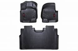 Rough Country - Floor Mats & Cargo Liners - Rough Country - Rough Country HEAVY DUTY FLOOR MATS [FRONT/REAR] - (15-17 FORD F-150 SUPERCREW CAB) - M-51512