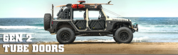 Doors & Tube Doors - Jeep Wrangler JK 07+ - Smittybilt SRC GEN2 Tube Doors - Rear JEEP WRANGLER JK 4 DOOR ONLY - 76795
