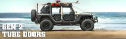 Exterior Body & Styling - Jeep Wrangler JK 07-PRESENT - Smittybilt SRC GEN2 Tube Doors - Rear JEEP WRANGLER JK 4 DOOR ONLY - 76795