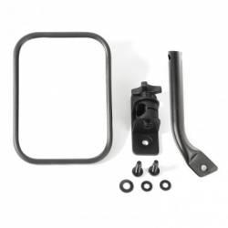 Exterior Body & Styling - Jeep Wrangler TJ / LJ 97-06 - STUBBY TRAIL MIRROR, RECTANGULAR, TXT BLACK; 97-17 JEEP WRANGLER TJ / JK - 11025.20